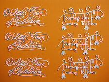 "6 Tattered Lace Die Cut Embellishments ""Christmas Sentiments"""