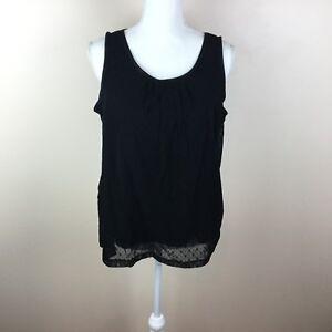 Van Heusen Womens Large Black Sleeveless Top