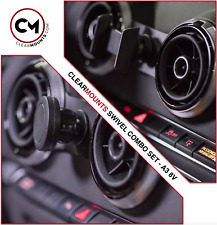 Clearmounts Swivel Magnetic & Cradle Cell Phone Holder - Audi A3 2013-2019 (8V)