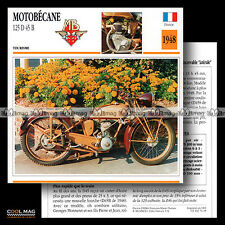 #074.18 MOTOBECANE 125 D45 B 1948 Classic Bike Fiche Moto Motorcycle Card