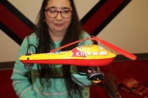 Antique Vintage Wyandotte Helicopter  Friction Wind Up Metal Toy WORKS