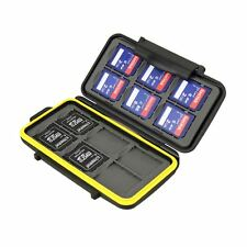 JJC MC-SD12 Water Resistant Tough Memory Card Case fits 12 x SD Cards