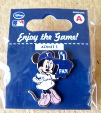 Texas Rangers Minnie Mouse #1 Fan Disney lapel pin MLB