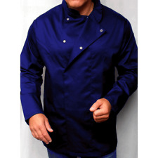 More details for chefs coats unisex navy blue chef jackets with long sleeves – extra small to 2xl
