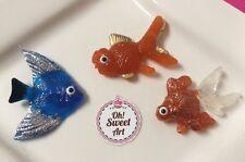 Aquarium I, goldfish, fish, shells, Sea Star Sugar isomalt  EDIBLE toppers deco