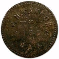 P. H. Cannon Biggs, California CA 5¢ Good For Trade Token