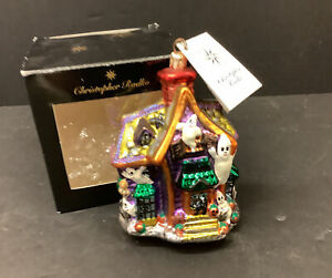 CHRISTOPHER RADKO  Halloween Ornament HOWL MANOR  Haunted House Ghosts With Tag