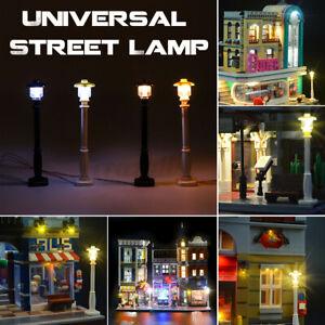 Universal DIY LED Light Lamp Post Lantern For Lego Street Building Shop Model
