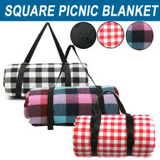 Large Picnic Blanket Premium Cashmere RED Rug Waterproof Mat Outdoor 200X200cm