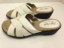 Soft Style Hush Puppies Dane Women's Sandal Slip-On Shoes, Size 6, White