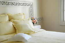 6 pc yellow embroidered quilt, bedspread, duvet, coverlet in King Queen & Double