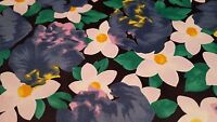 "4 black floral art print placemats 13 3/4"" x 18"" New"