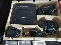 Sega Genesis Model 2, 2 Controller, 7 Games, And Original Box