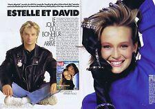 COUPURE DE PRESSE CLIPPING 1989 Estelle Lefebure & David Hallyday (6 pages)