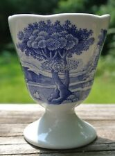 Copeland Spode Italian Egg Cup, Blue & White Transferware Egg Cup