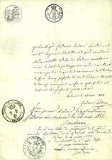 MAIRIE DE VALENCE (26) TESTAMENT DE FREDERIC LATOUR,  LIEUTENANT ARTILLERIE 1822