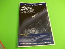 MARLIN SELF-LOADING RIFLE 22 LR OWNER'S MANUAL