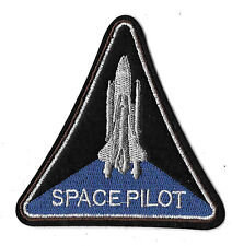 Space -  Pilot - Shuttle - Moon - Astronaut - Embroidered Iron On Patch - 4""