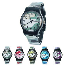 1PC Camouflage Children Sports Watch Boy Girls Quartz Watch Student Cusual Watch