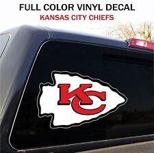 "Kansas City Chiefs Window Decal Graphic Sticker Car Truck SUV - 12"" wide"