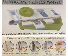MANDOLINE MULTIFONCTIONS 5 LAMES RAPE A LEGUME BAC DE RECUPERATION