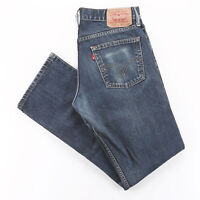 Vintage LEVI'S 514 Blue Denim Slim Straight Jeans Mens W32 L32