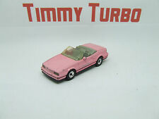MATCHBOX CADILLAC ALLANTE CONVERTIBLE IN PINK GREY TRIM 1987 1:60