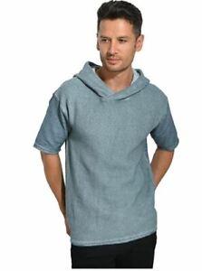 Black Kaviar Men's Skidmore Sweatshirt, Blue (Slate), Large