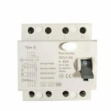 Type B RCD / RCCB 40A. 3P+N EKL1-63. 1 or 3 ph. EV / EVSE Charge Point Installs