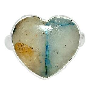 Heart - Rare Quantum Quattro - USA 925 Sterling Silver Ring s.6 BR44556