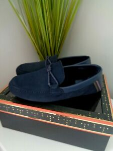 BN Ted Baker Navy Seffel Moccasin Slippers size 42 UK 8