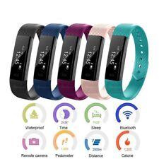 Bluetooth Sport Tracker Smart Watch Wrist Band Bracelet Heart Rate Sleep Monitor