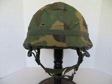 Vnm era Late Erdl U.S. M1 airborne paratrooper Helmet, Complete