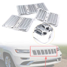 Front Grille Mesh Grill Insert Trim Chrome for 2014-2016 Jeep Grand Cherokee cl