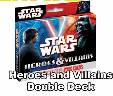 Stars Wars Heroes and Villians Poker Playing Cards - 2 Pack