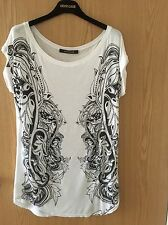 Roberto Cavalli Ladies T-Shirt With Print Size IT 38