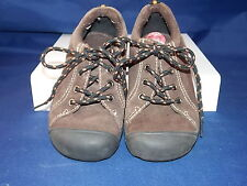 Osh Kosh Kids Child 10 Brown Suede Leather Lace up Oxford Rubber Toe Cap Rugged