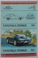 1963 Chevrolet Corvette Coupe coche Sellos (líderes del mundo / Auto 100)