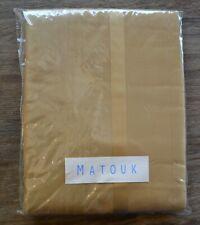 Matouk Nocturne Queen Flat Sheet, Bronze Gold Color