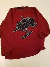 Long Sleeve Boys Burgandy  Snow mobile Shirt Gymboree sz6