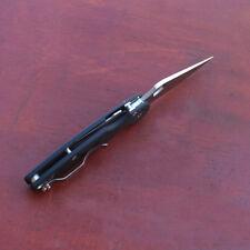 Y-START Tactical Pocket EDC Tool Folding Knife 440C Blade Carbon Fiber Handle