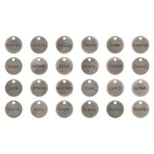 Tim Holtz Idea-ology Metal Typed Tokens 24pcs