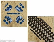 Hummer H1 H2 SUT H3 Logo All Terrain RARE Fully Licensed (2) Fabric Bandana Set