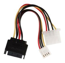 Glaxio Internal power adapter cable SATA 15-pin male - Molex female+FDD female
