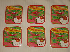COOL!! 6 HELLO KITTY LOMBARD ST. SAN FRANCISCO STICKERS SANRIO LICENSED NEW!!