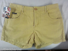 ROXY Ladies Shorts Dixie Five Pocket Distressed Gold SIZE 5 BRAND NEW