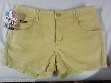 ROXY Ladies Shorts Dixie Five Pocket Gold SIZE 5 BRAND NEW