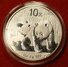 2010 CHINESE PANDA DESIGN 1 OZ .999% SILVER ROUND BULLION COLLECTOR COIN GIFT