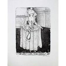 """PAUL WUNDERLICH Originallithographie """"ANNE OF DENMARK"""" Auflage nur 25 EXEMPLARE"""