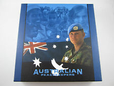 2005 Australian Peacekeepers 5 Coin Coloured Silver Proof Set 10 oz 99.9% Fine#